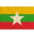Myanmar paper flag vector image vector image