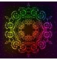 Ornate rainbow neon mandala vector image vector image
