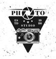 photo studio emblem label badge or logo vector image vector image