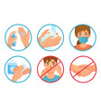 prevention coronavirus infection use face mask vector image vector image