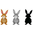 rabbit set of different version vector image vector image