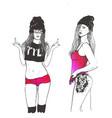rap swag girl vector image