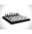 Realistic Chess Board vector image