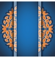 Round floral orange blue invitation card vector image vector image