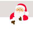 santa claus with signboard happy santa vector image