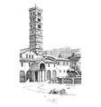 santa maria built near or at a station vintage vector image vector image