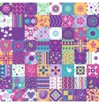 Seamless patchwork pattern ornaments vector image vector image