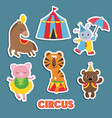 set of circus animals set of circus animals vector image vector image