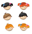 Set of cute boys and girls sticers vector image