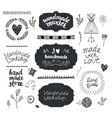 set of hand drawn doodle frames badges vector image vector image