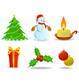 set of vector Christmas images vector image vector image