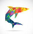 Shark abstract vector image vector image