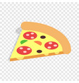 slice of pizza isometric icon vector image vector image