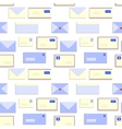 Snail mail letters envelopes seamless pattern vector image