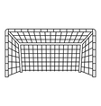 Soccer goal icon outline style vector image
