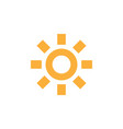 sun icon design template isolated vector image