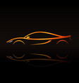 supercar orange outline elegant sign vector image vector image
