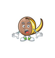 surprised cute bambangan fruit in cartoon mascot vector image vector image
