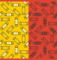 sweets candy toffee seamless pattern in outline vector image vector image