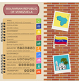 Venezuela infographics statistical data sights vector image vector image