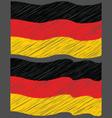Waving Hand Draw Sketch Flag of German vector image