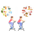 woman diet concept set vector image vector image