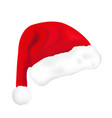 santa hat realistic 3d style christmas new year vector image