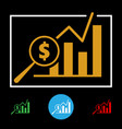 business financial chart icon vector image