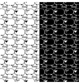 set seamless pattern with sheep vector image