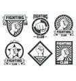Fighting club mma lucha libre vintage vector image