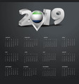 2019 calendar template grey typography with vector image vector image