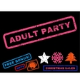 Adult Party Rubber Stamp vector image vector image
