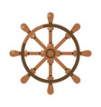ancient wooden ships wheel front view flat vector image vector image