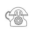 antique telephone isolated