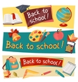 Back to school horizontal banners with education vector image vector image
