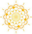 background template with mandala pattern vector image vector image