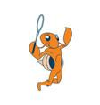 badminton playing hermit vector image vector image