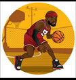 basketball player dribbling the ball vector image vector image