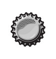 beer bottle cap isolated on vector image vector image