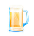 beer glass mug vector image vector image