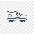 boots concept linear icon isolated on transparent vector image