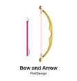 bow arrow flat icon vector image