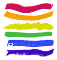 bright painted rainbow watercolor strips hand vector image