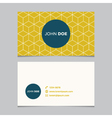 business card pattern yellow 10 vector image vector image