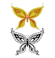 Butterflies with abstract pattern vector image vector image