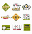 casino club and gambling isolated icon poker and vector image vector image