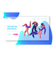 character dancing extreme breakdance on street vector image