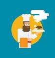 chef flat design vector image