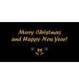 Christmas black card vector image vector image