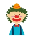 circus funny clown cartoon design vector image